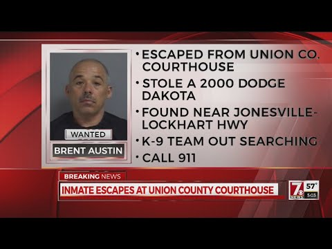 Inmate escapes from Union Co. Courthouse
