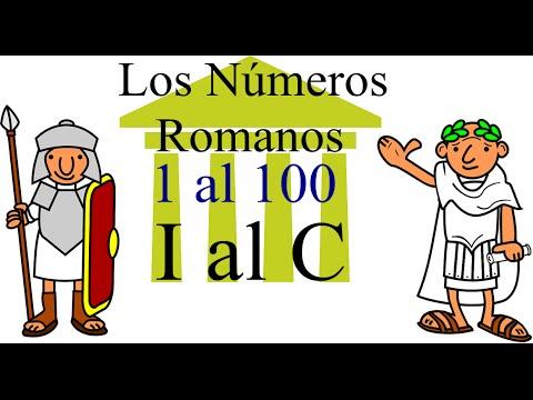 Los Números Romanos Para Niños Del 1 Al 100 Youtube