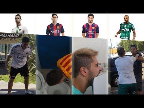 IMITANDO JOGADORES DE FUTEBOL (Cristiano Ronaldo, Messi, Suarez e Felipe Melo)