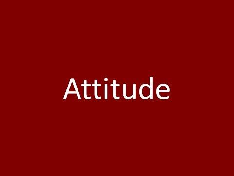 Attitude Meaning Definition Pronunciation Example Synonym Antonyms