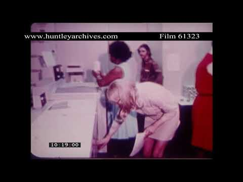 Montage of Working Women, 1970's U.S.A.  Archive film 61323