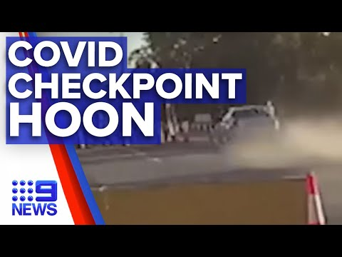 Police body cam captures drunk driver at COVID checkpoint I 9News Perth
