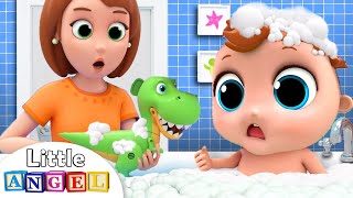 Mommy gives Baby John a Bath | Bath Song | Little Angel Kids Songs