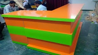Gambar cover Office counter design | corner counewr design | shop counter