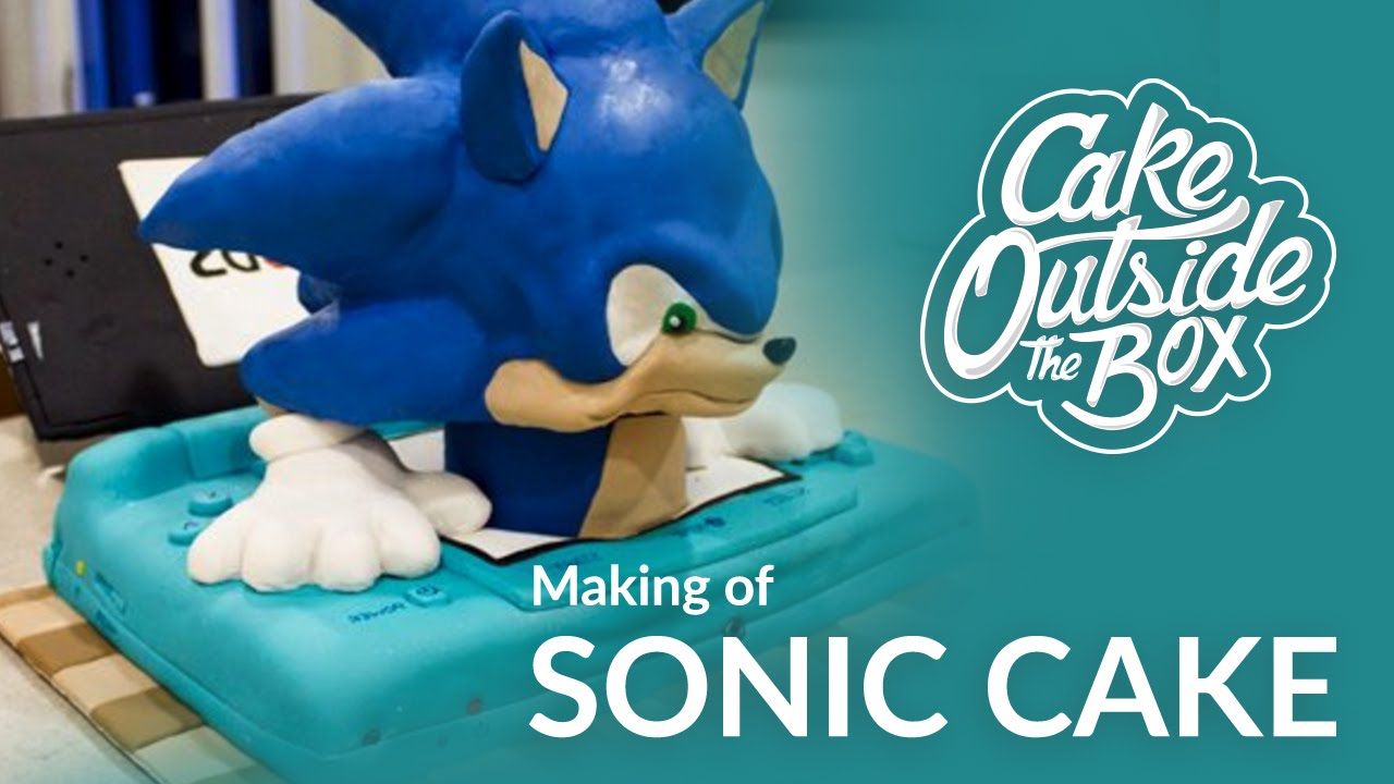 Making Of Sonic 3d Cake Cake Outside The Box Youtube