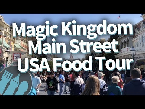 Disney World Food Tour: EVERY Food Spot on Magic Kingdom's Main Street USA!