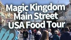 Disney World Food Tour: EVERY Food Spot on Magic Kingdom's Main Street USA!