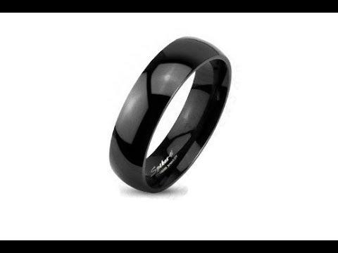 jewellery---black-titanium-band---smooth-with-high-shine,-6-mm