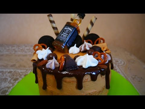 Как украсить торт для мужчины на день рождения в домашних условиях