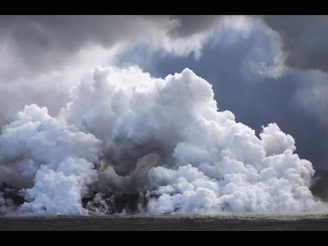 وصول حمم كيلاويا في هاواي الأمريكية إلى المحيط الهادي