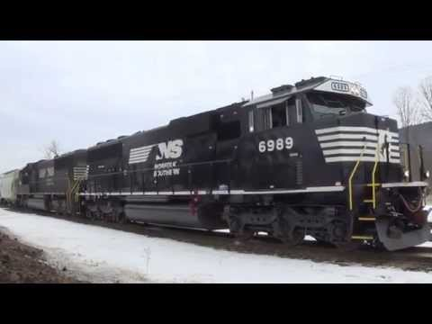 Day One-Norfolk Southern Train Action In Waverly NY & Sayre PA IN