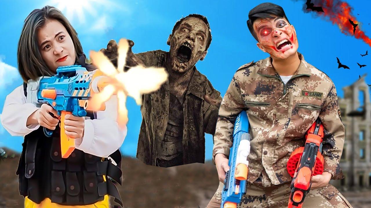 XGirl Nerf War: Action Nerf Guns Zombies Battle #shorts