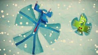Бумажки - Снег идет! - мультфильм для детей - поделки своими руками - про зиму