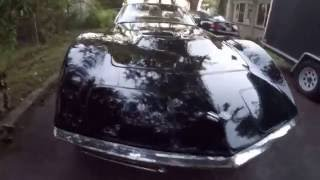 "'68 Corvette 327 4spd conv w/sidepipes, triple ""tuxedo"" black"