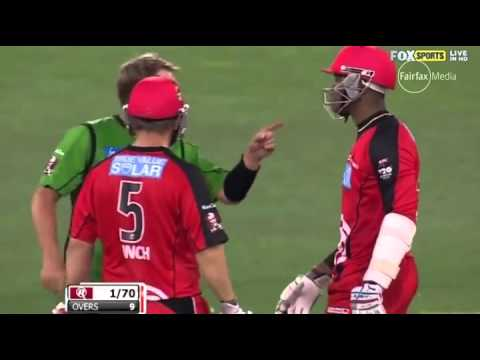 Samuels taunts Warne  'My face is real'