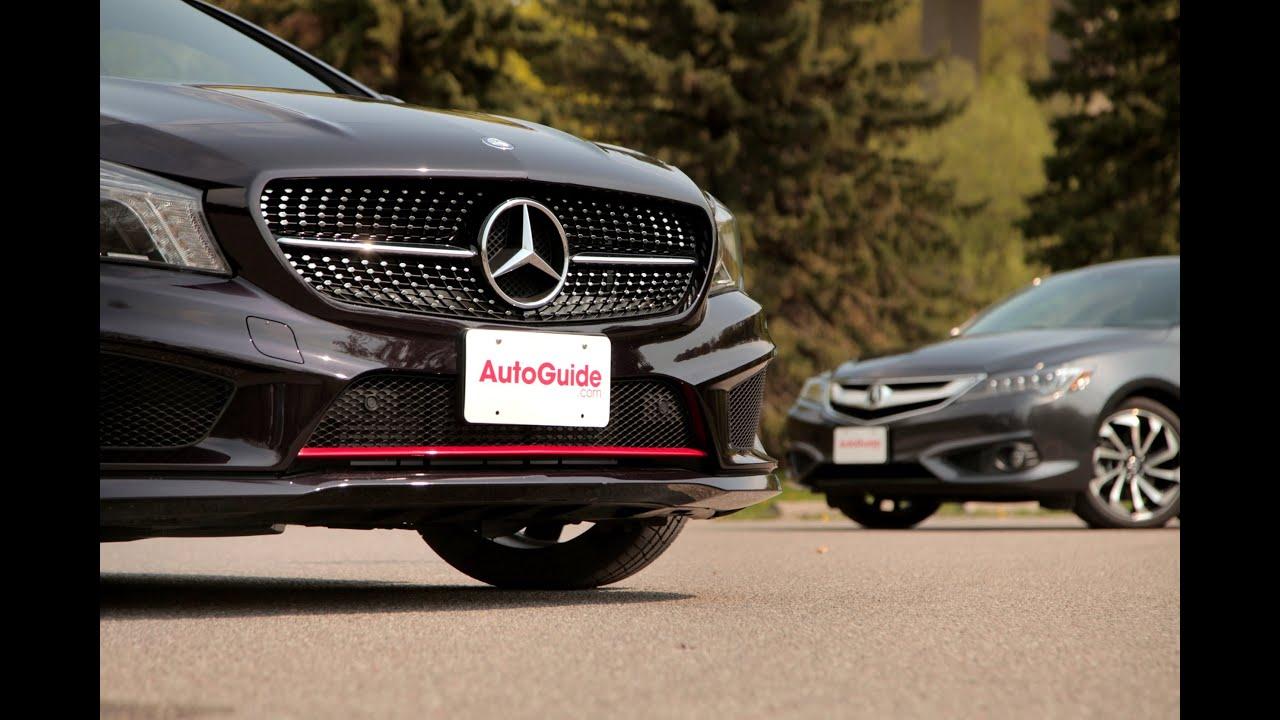 2016 Acura Ilx Vs 2015 Mercedes Cla Youtube
