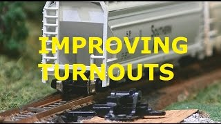 MODEL RAILROAD TURNOUT NO DERAIL OR BOUNCE IMPROVEMENT