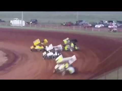 Lawton Speedway OCRS Sprint heat #1 6/4/2016