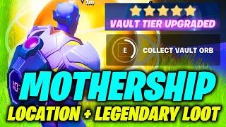 MOTHERSHIP Location & Inside THE MOTHERSHIP Legendary Loot Gameplay (Fortnite)