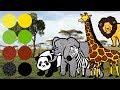 Wild Zoo Animals for Kids  Learn Names and Sounds   Giraffe  Elephant  Lion  Zebra  Panda