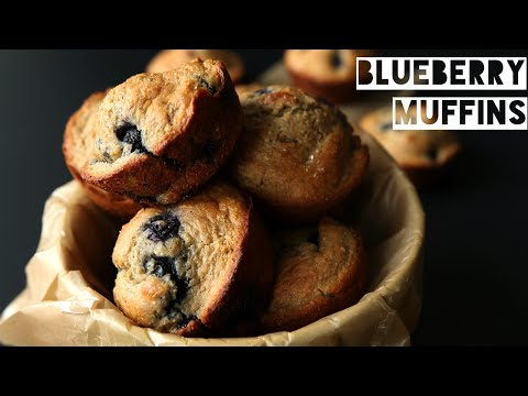 Healthy High Protein Blueberry Muffin Recipe | How To Make Low Calorie Blueberry Muffins
