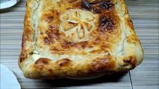 Пирог со шпинатом с сыром / Pie with spinach with double cheese