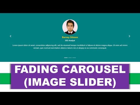 Create Fading Carousel (Image Slider) using HTML5 and