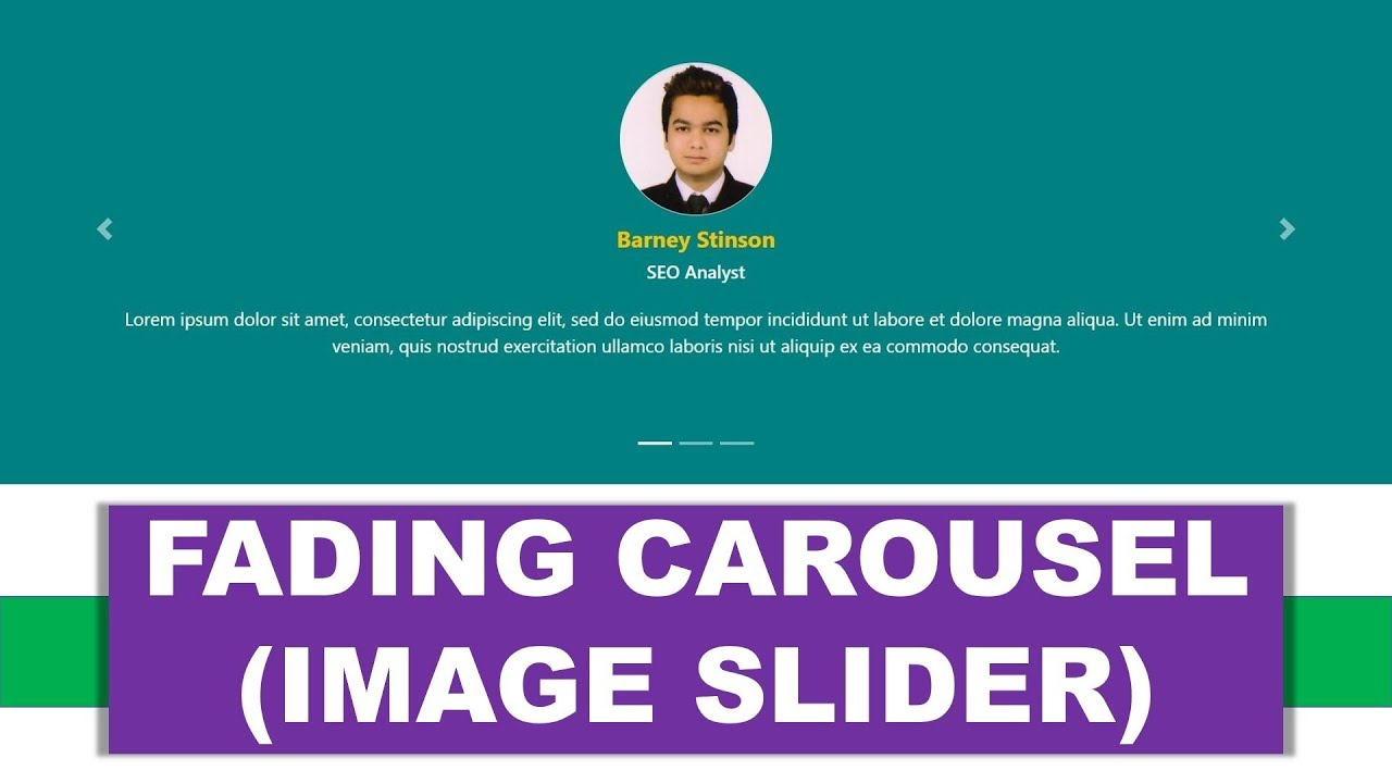 Create Fading Carousel (Image Slider) using HTML5 and Bootstrap 4 | Example  1