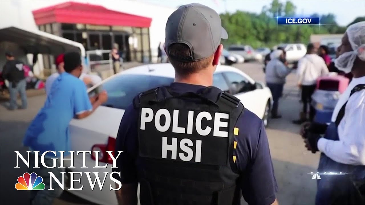 Companies Could Face Charges After Massive Mississippi ICE Raids | NBC  Nightly News