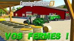 Farming Simulator 19 | JE VISITE VOS FERMES #01 | De belles surprises !