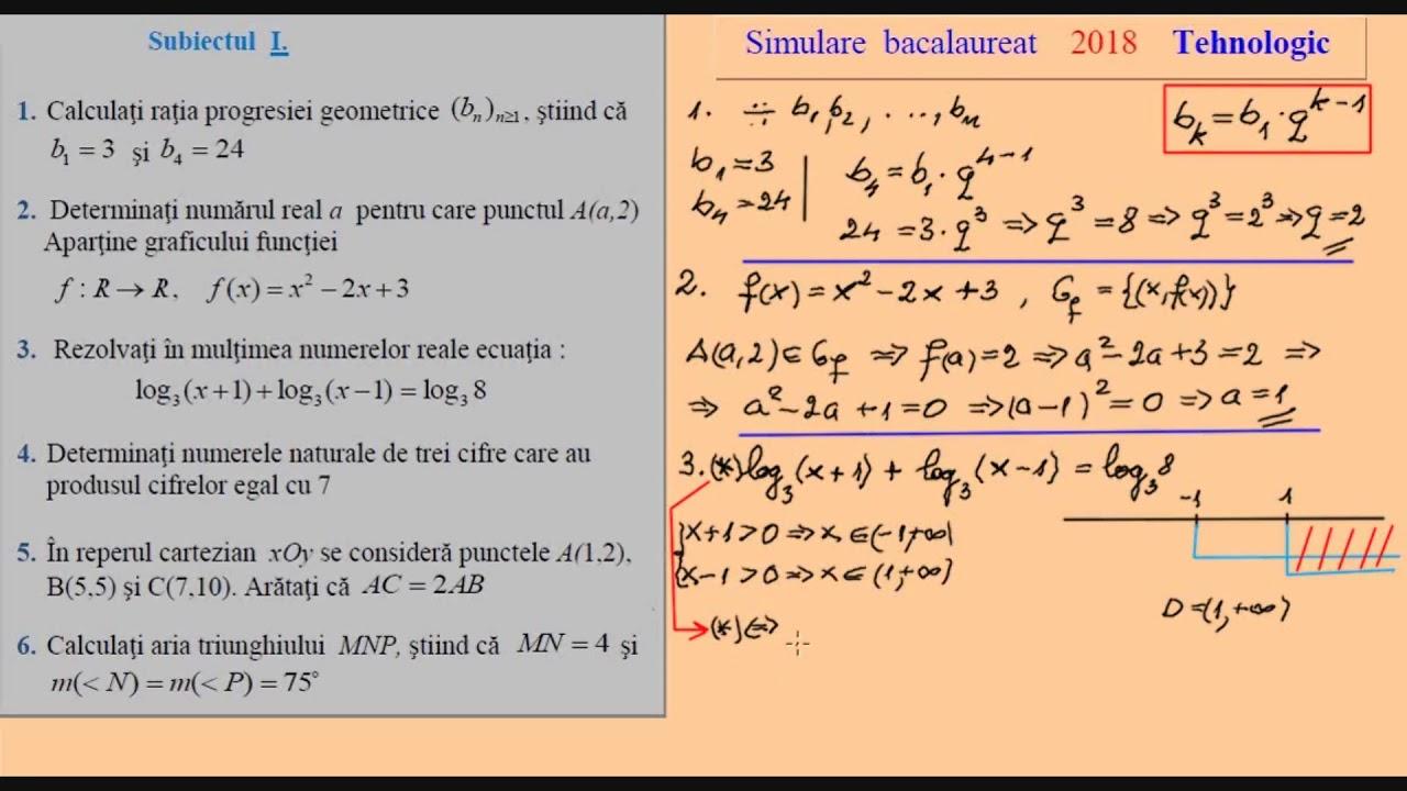 Simulare Clasa A 8 A 2019 Matematica: Subiecte Simulare Matematica 2019