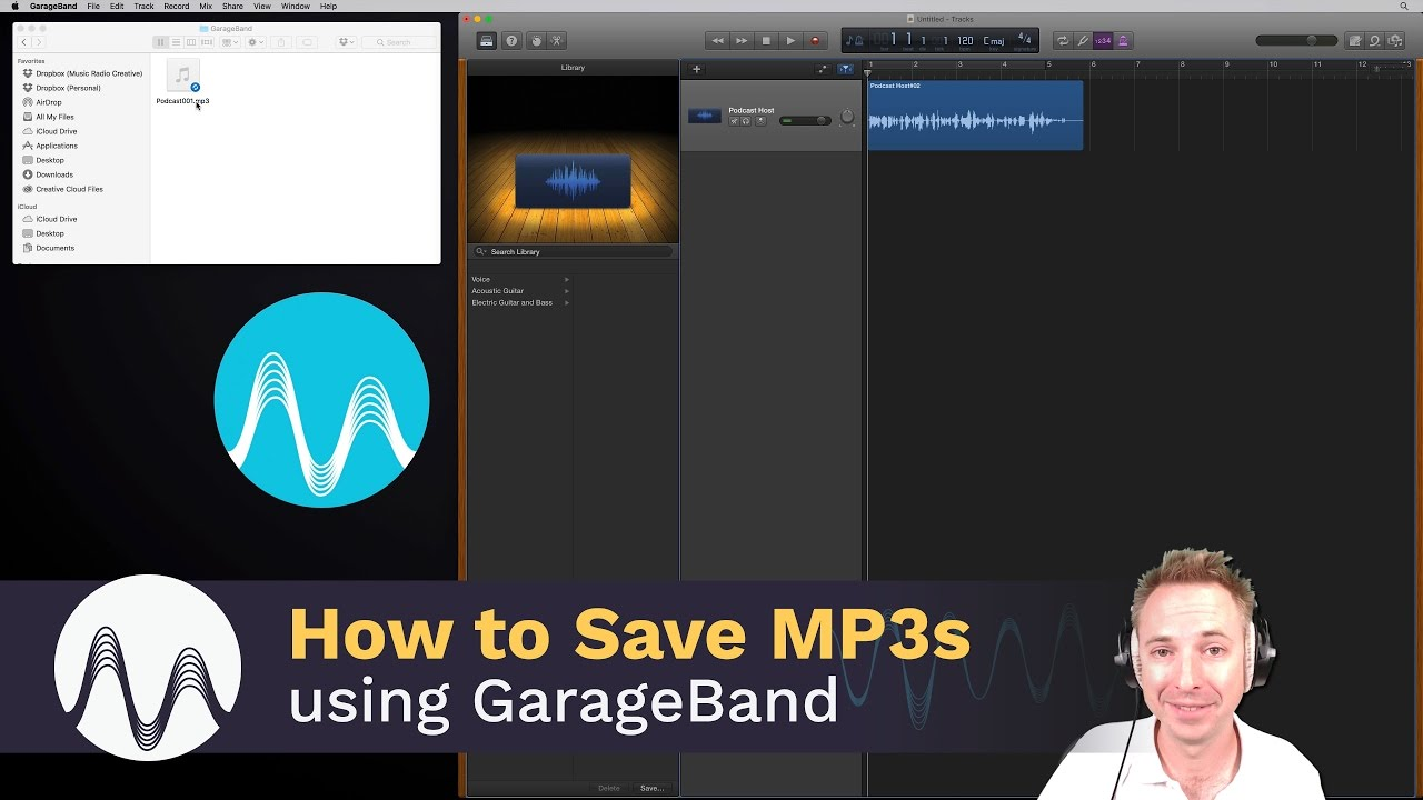 How to Save GarageBand as MP3