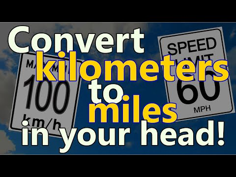 How to convert kilometers to miles in your head