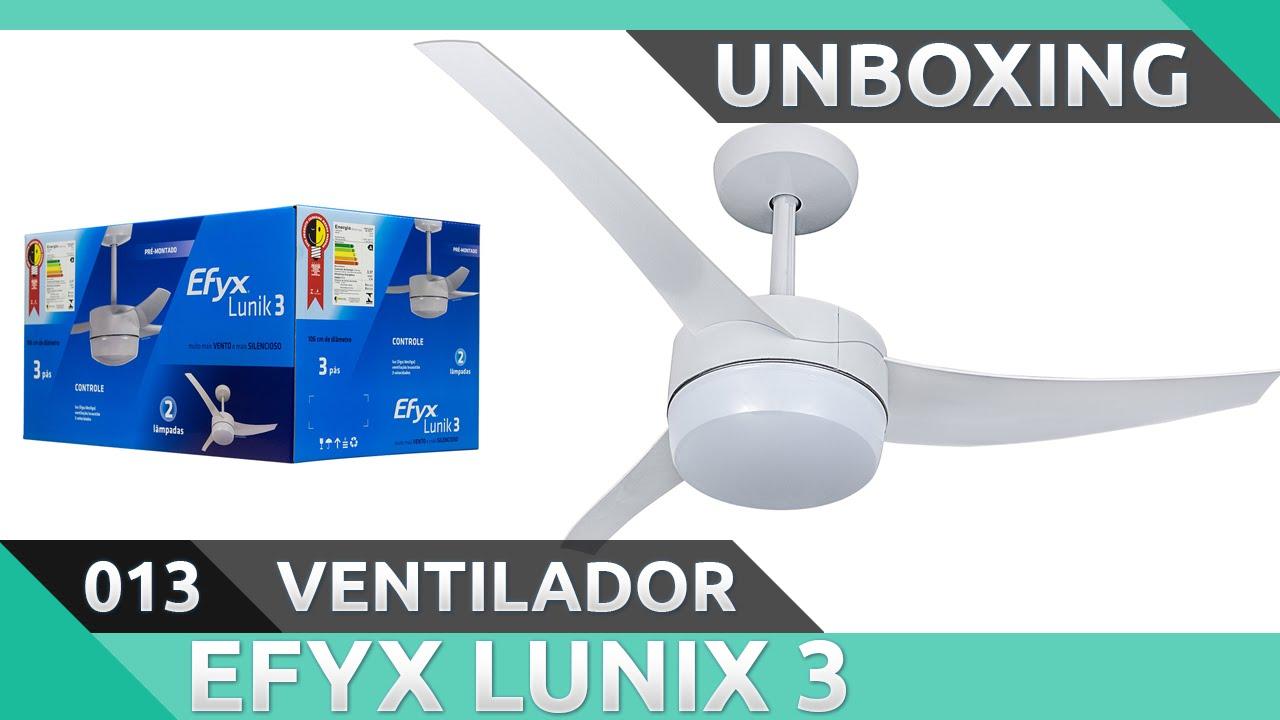589f504e1 UNBOXING  Ventilador de teto Efyx Lunik 3 - Primeiras impressões ...
