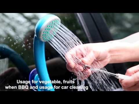 Rechargeable camping shower