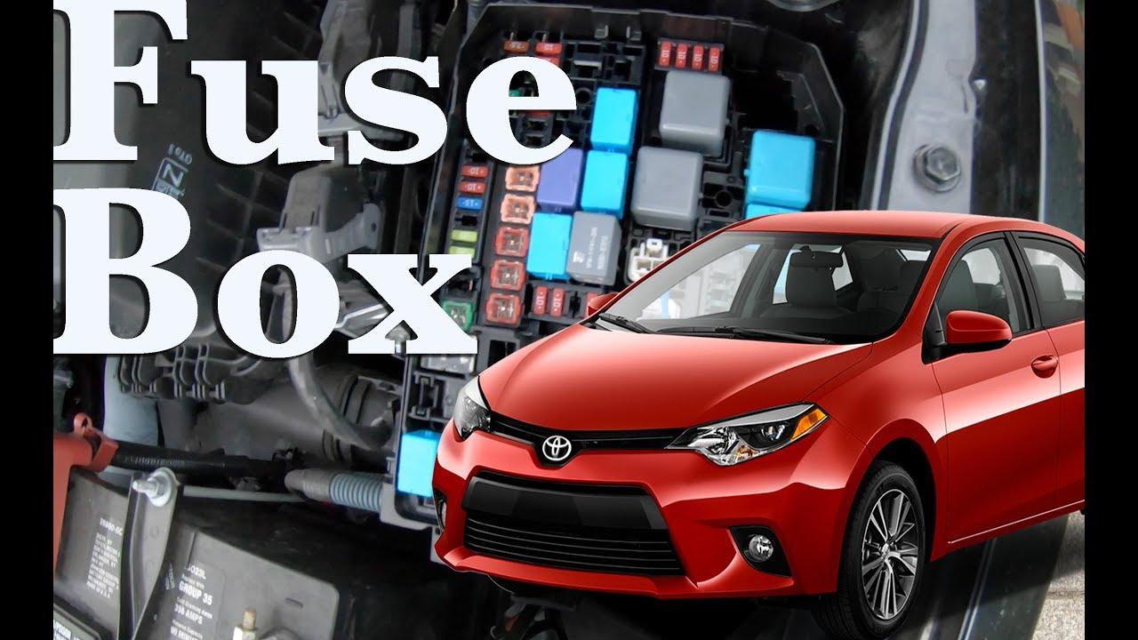 fuse box location on a 2014 - 2018 toyota corolla