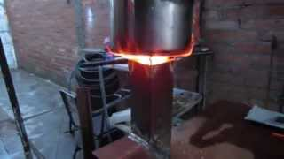 Estufa portatil de metal  (rocket stove)