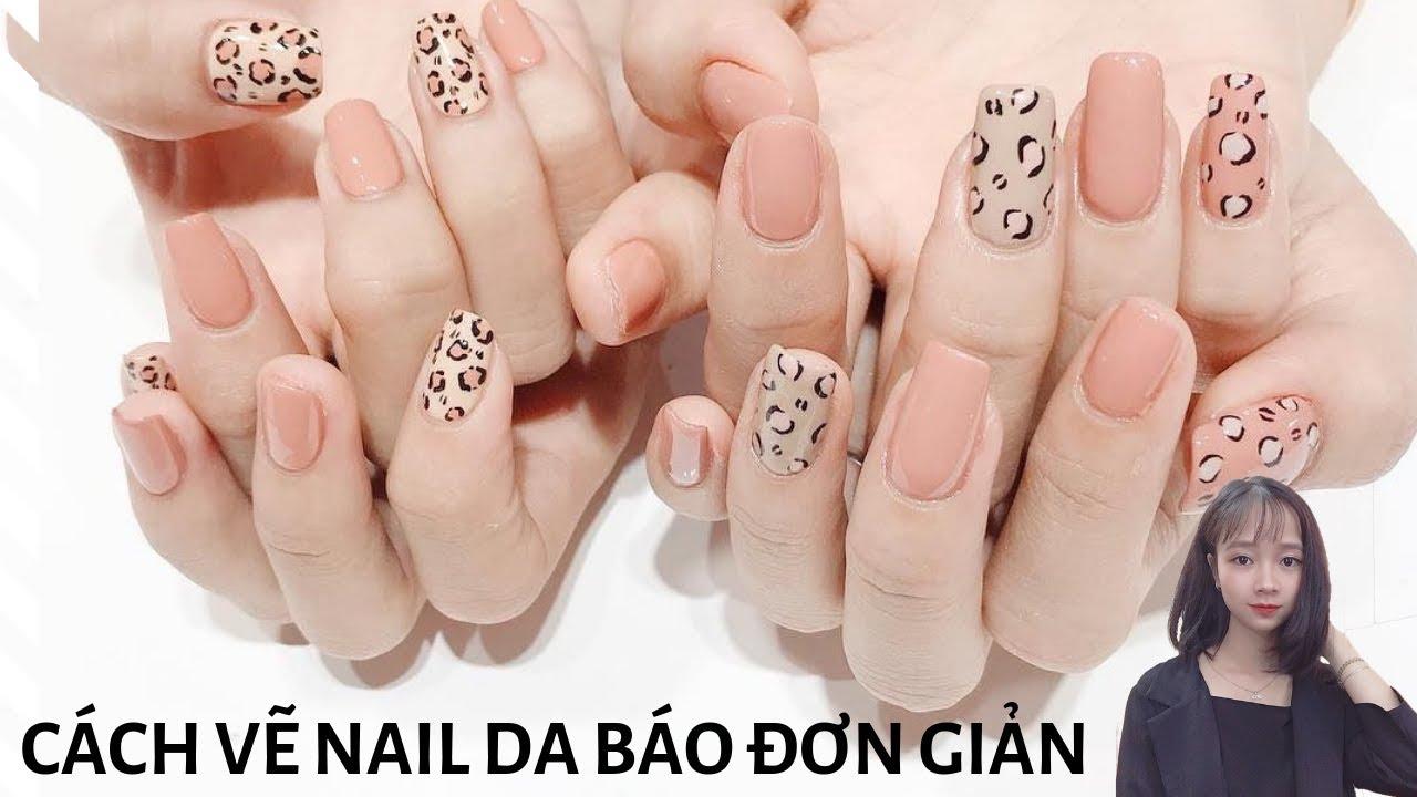 Mẹo vẽ nail da báo đẹp và siêu nhanh- cách vẽ nail da báo