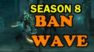 Diablo 3 Season 8 BAN HAMMER Blizzard bans accounts