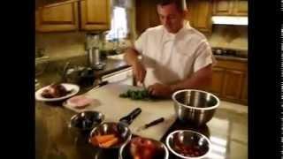 The Kitchen Warrior /roasted Chicken Salad With Blueberry Vinaigrette