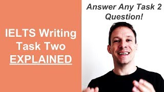IELTS Writing Task Two Explained - NEW - [ 7 Step CTR Method To Answer Any Question ]