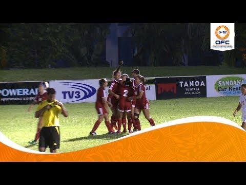 OFC U-16 WOMEN'S CHAMPIONSHIP | Tahiti v Samoa Highlights