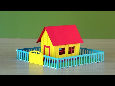 Simple & easy making of a beautiful color paper house