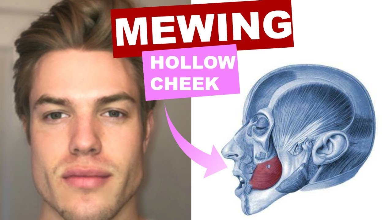 MEWING for Hollow Cheeks | How to get a DEFINED FACE