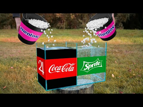 Experiment: Coca Cola VS Mentos & Sprite VS Mentos