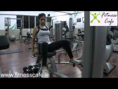 outer thigh machine exercise from fitness cafe gym,koramangala,bangalore