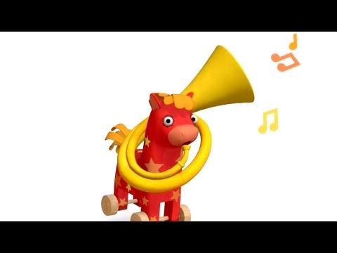 Теремок песенки для детей - Деревяшки: УБОРКА - Мультики для детей и малышей про игрушки