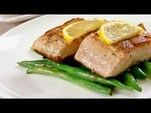 saumon-au-four-avec-haricots-verts-....سمك-السلمون-المشوي-مع-الفاصوليا-الخضراء