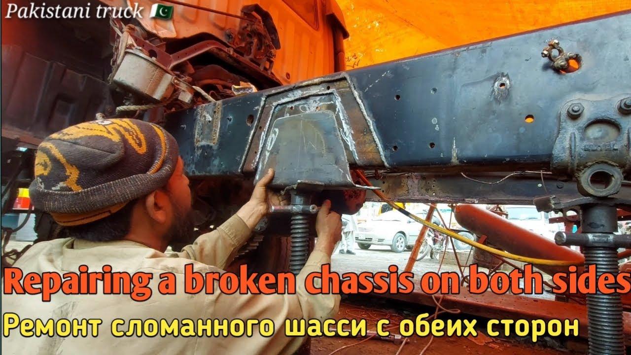 Repair broken chassis on both sides   Ремонт сломанного шасси с обеих сторон