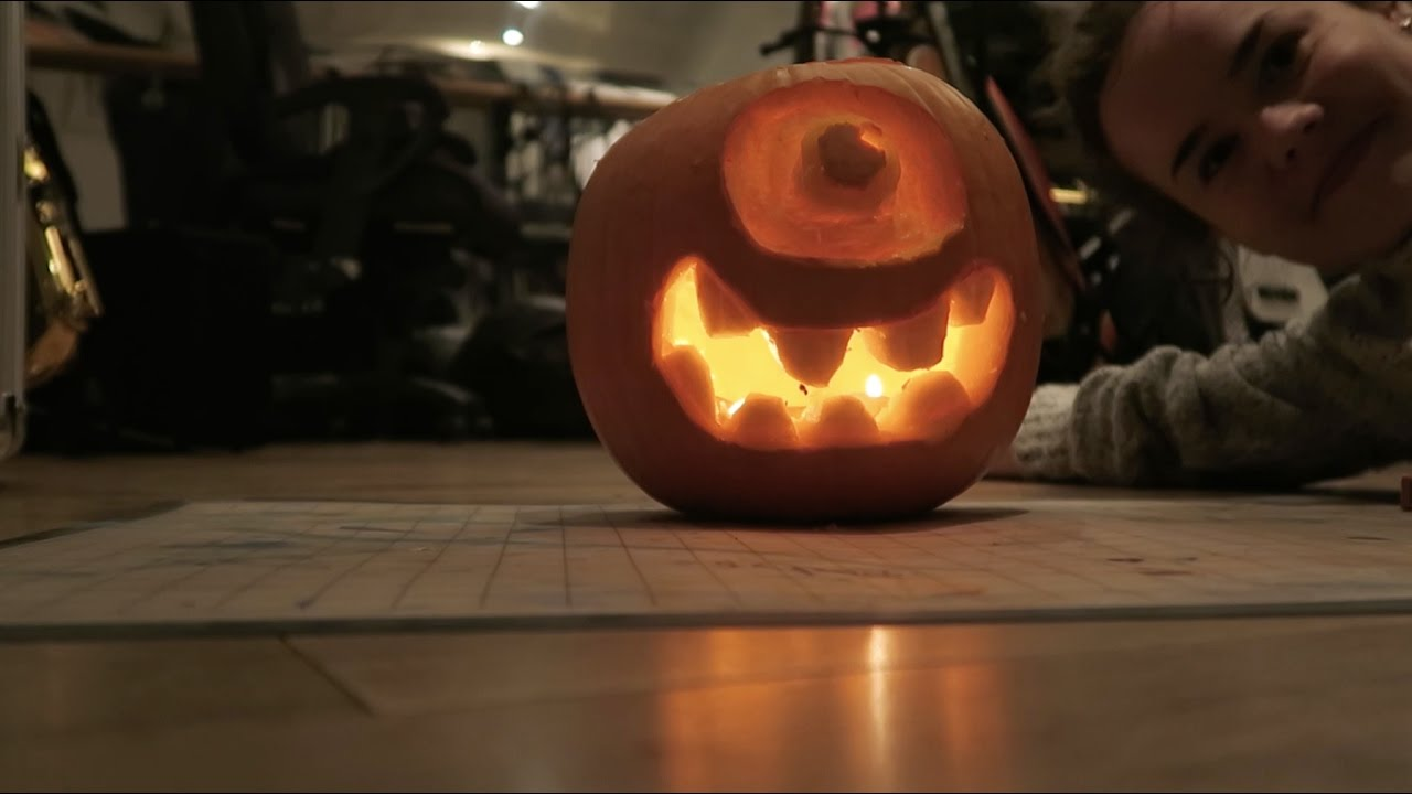 Pumpkin Carving Time Lapse Dog And Mike Wazowski Youtube